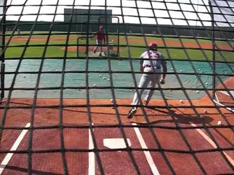 Cincinnati Reds A Ball Players take batting practice