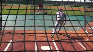 Cincinnati Reds A Ball Players take batting practice
