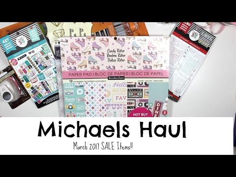 Michaels Craft Store Haul | Sale Items | March19th 2017 | Hip 'n Creative