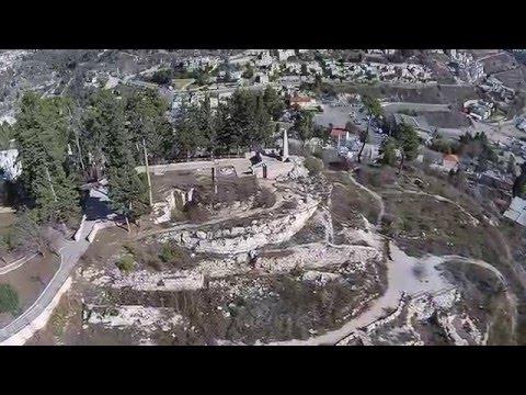Zefat Fortress Aerial View (BibleWalks.com)