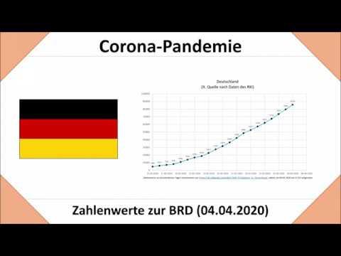 Coronavirus in Deutschland Stand 04.04.2020: Zahlen für die BRD und die Bundesländer
