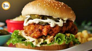 Nashville Hot Chicken Burger Recipe By Food Fusion
