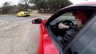 Ferrari F360 and F430 Sunday Drive with pure sound