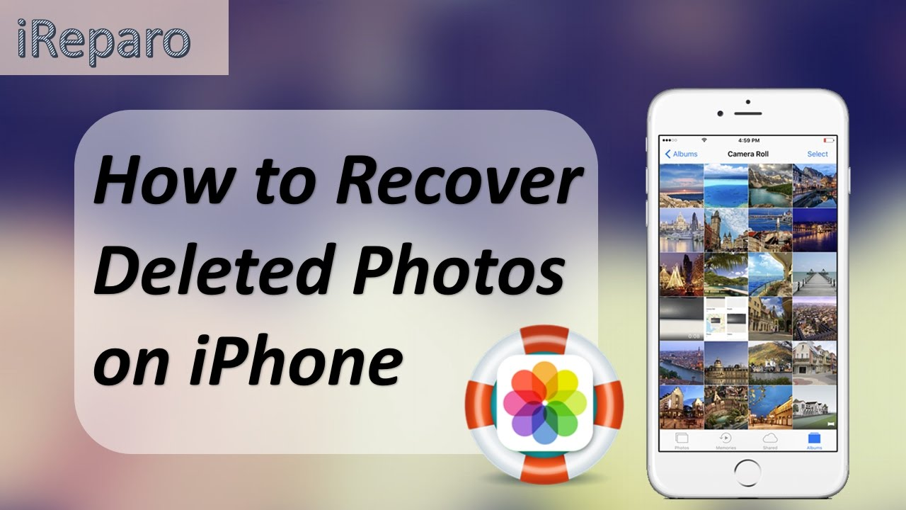 How To Recover Deleted Photos From Iphone  Free