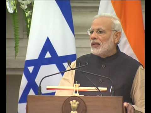 PM Narendra Modi's Speech at Joint Press Statement with the President of Israel, Mr. Reuven Rivlin