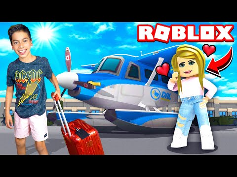 Flying Across The World to Meet a GIRL! (Roblox Brookhaven) | Royalty Gaming