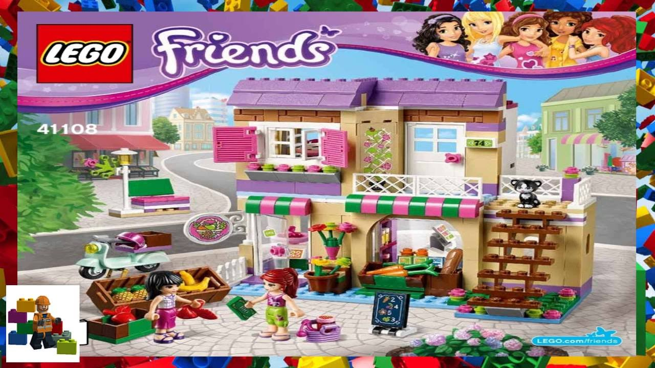 Lego Instructions Lego Friends 41108 Heartlake Food Market Book