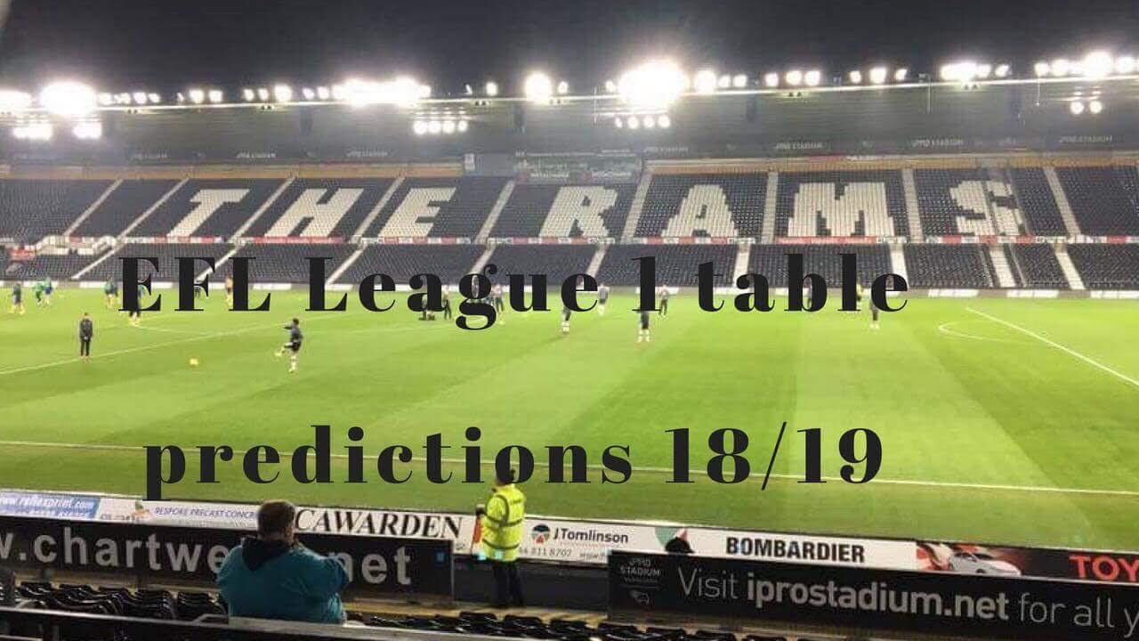 League 1 table prediction 2018/19