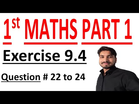 FSC Math book 1 ch 9 Lec 12 Exercise 9.4 no 22 & 24 Math Chapter 9 Fundamentals of Trigonometry