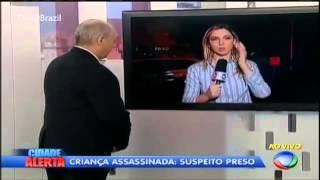 Reporter Chora  Ao Vivo  no Cidade Alerta Após relato de Criança Boliviana Assassinada   28 06 2013