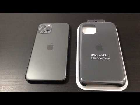 Apple IPhone 11 Pro Space Gray With Black Silicone Case