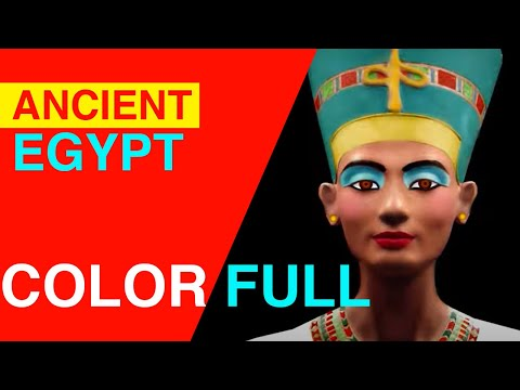 EGYPT -  ancient art wasn't black & white (for Kids)