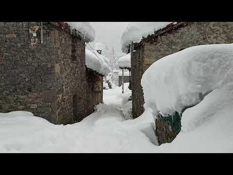 VÍDEO Casi un metro de nieve en Soto de Sajambre