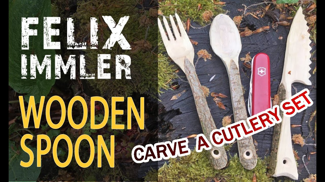 How to carve a wooden spoon (for advanced) - cutlery set (3/3) - Victorinox Swiss Army Knife project
