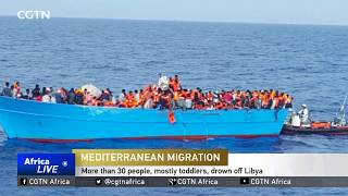 More than 30 people, mostly toddlers, drown off Libya