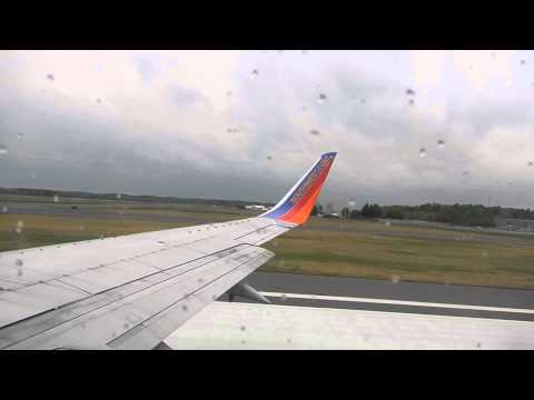Southwest Airlines Boeing 737-300 Takeoff from Bradley International Airport
