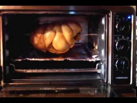 Faberware Toaster Oven Rotisserie Chicken Youtube