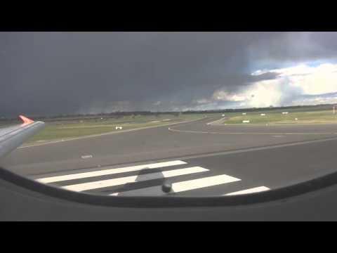 EasyJet Flug EZY4637 Berlin nach Basel-Mulhouse Airbus A319 Start Landung Push Back 04.07.15