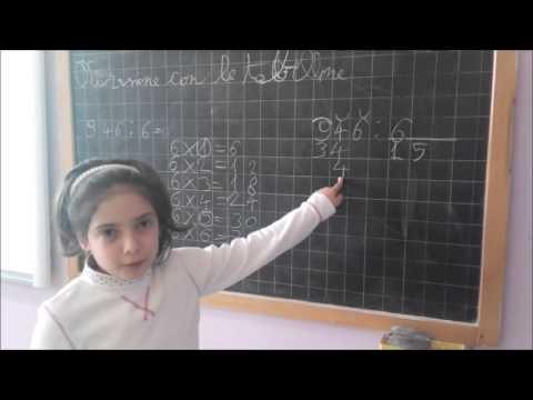 La divisione spiegata dagli alunni... con le tabelline.
