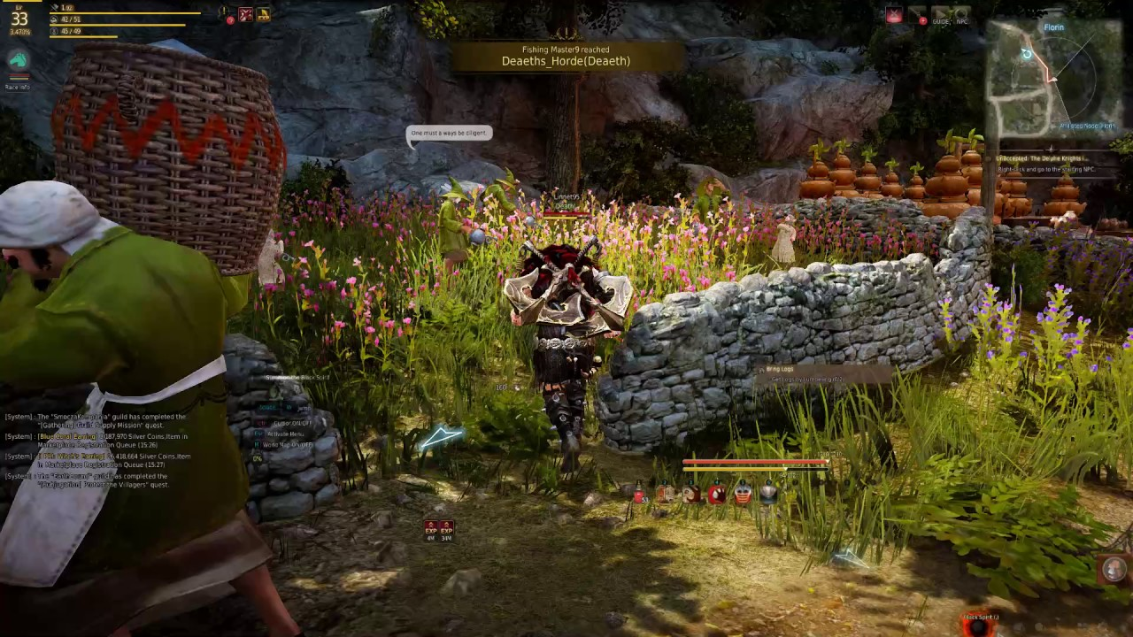 Bring Logs Quest Black Desert Online