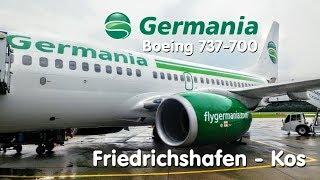 ✈TRIP REPORT |  Germania (Economy) | Friedrichshafen - Kos | Boeing 737-700