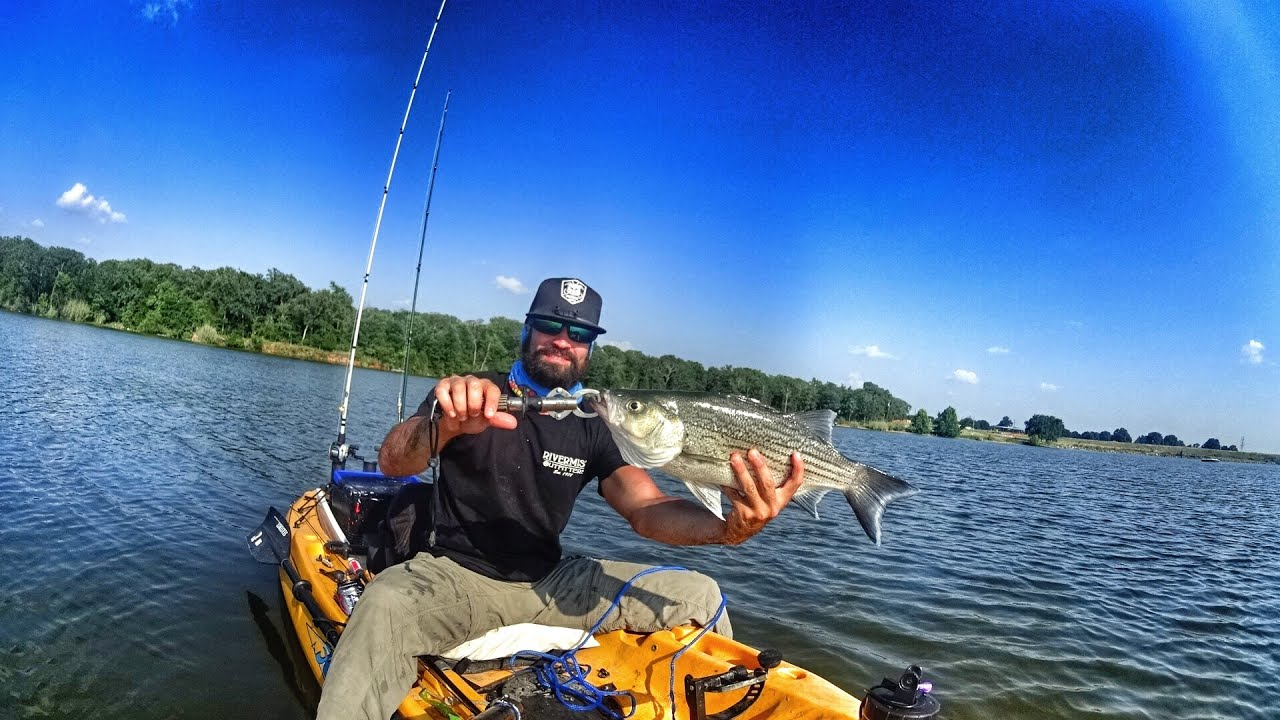 Ymp george saber hybrid bass kayak fishing trolling for Cedar creek fishing report