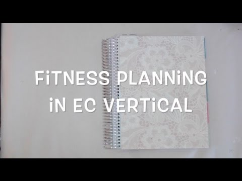 my fitness journal in a vertical ECLP