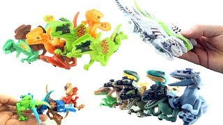 Learn Counting Mutant Hybrid Lego Dinosaurs - Learn to count to 8 Dino Mutant Toys - T-Rex Hybrid