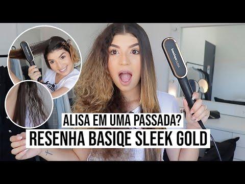 TESTANDO A BASIQE SLEEK GOLD *no cabelo cacheado* SINCERÃO | por Jessica Melo