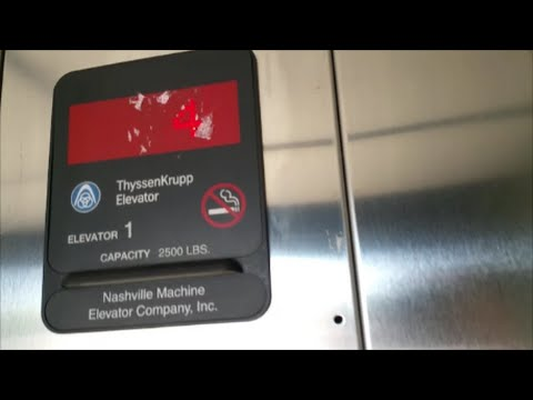ThyssenKrupp Hydro Elevator @ the 4th St. Parking Garage in
