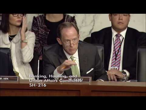 Sen. Toomey Questions Janet Yellen at Senate Banking Committee