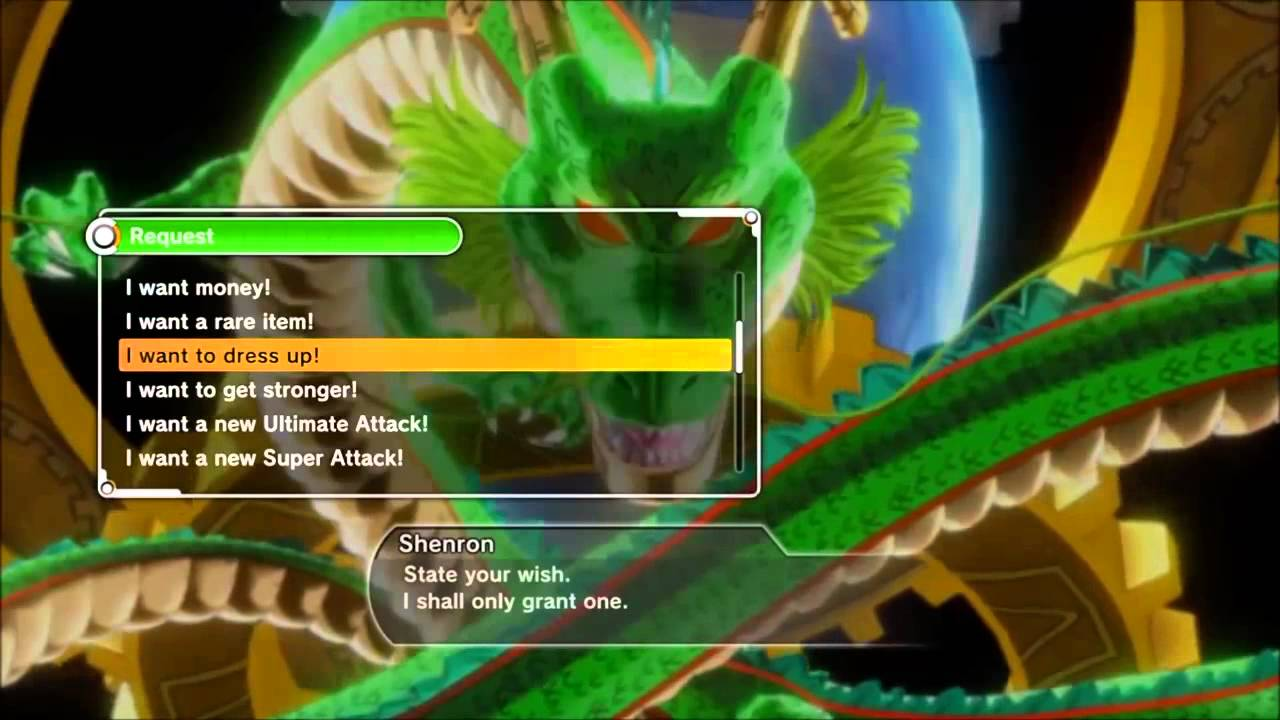 DRAGON BALL XENOVERSE 2 Ps4- I Want To Dress Up Wishes (Explained ...
