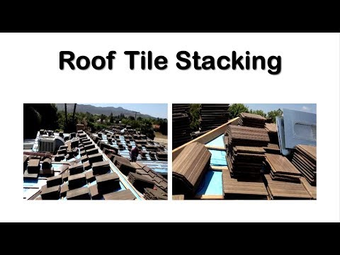 Roof Tile Stacking, there's a system to it