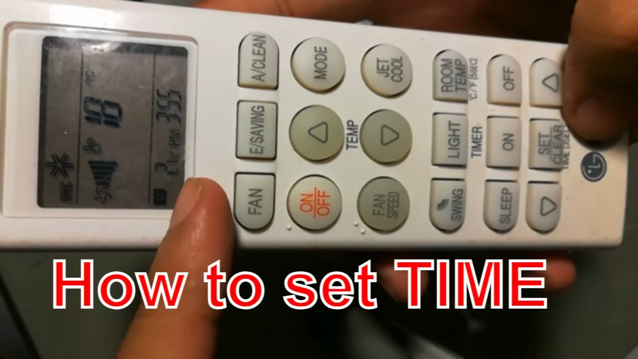 How to set timer on off and sleep timer on LG ac remote controller