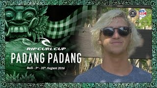 Tim Bisso is a Wedding Crasher, Wave Smasher - 2016 Rip Curl Cup Padang Padang