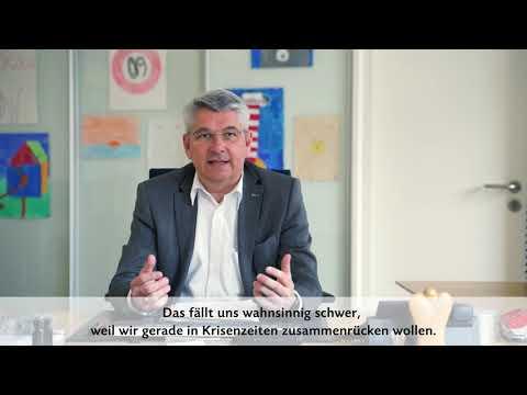 Bürgermeister Lutz Urbach wendet sich an die Bürgerschaft