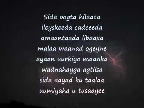 Somali Lyrics -  Karaoke  - Onkod -  By You -  siman3somali's request.mp4