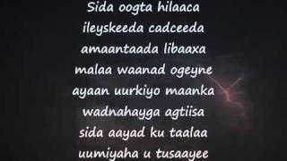 Somali Lyrics - Karaoke - Onkod - By You - siman3somali's request.mp4