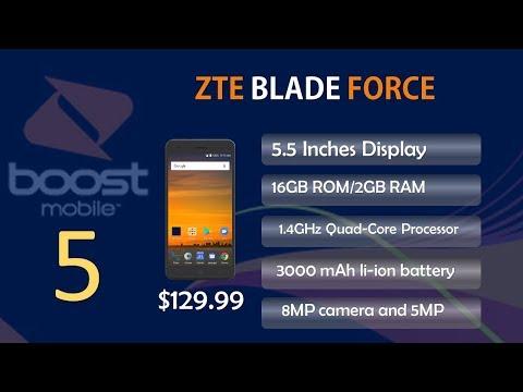 My top 5 boostmobile smartphones, range Price 99$-199$ in 2017