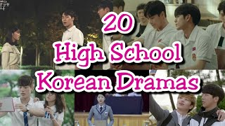 20 Highly Recommended High School Korean Dramas #KDrama #KoreanDrama #SchoolDrama