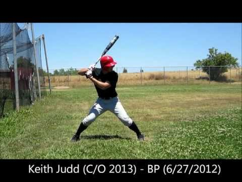 Keith Judd (C/O 2013) - Batting Practice (6/27/2012)