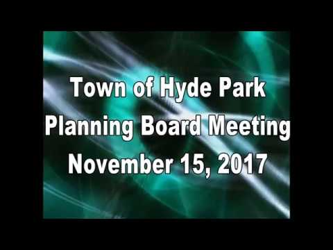 Hyde Park Planning Board 11-15-17