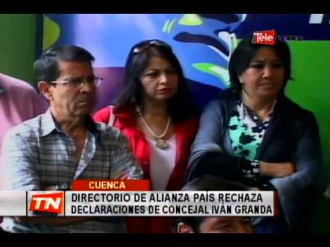 Directorio de Alianza País rechaza declaraciones de concejal Iván Granda