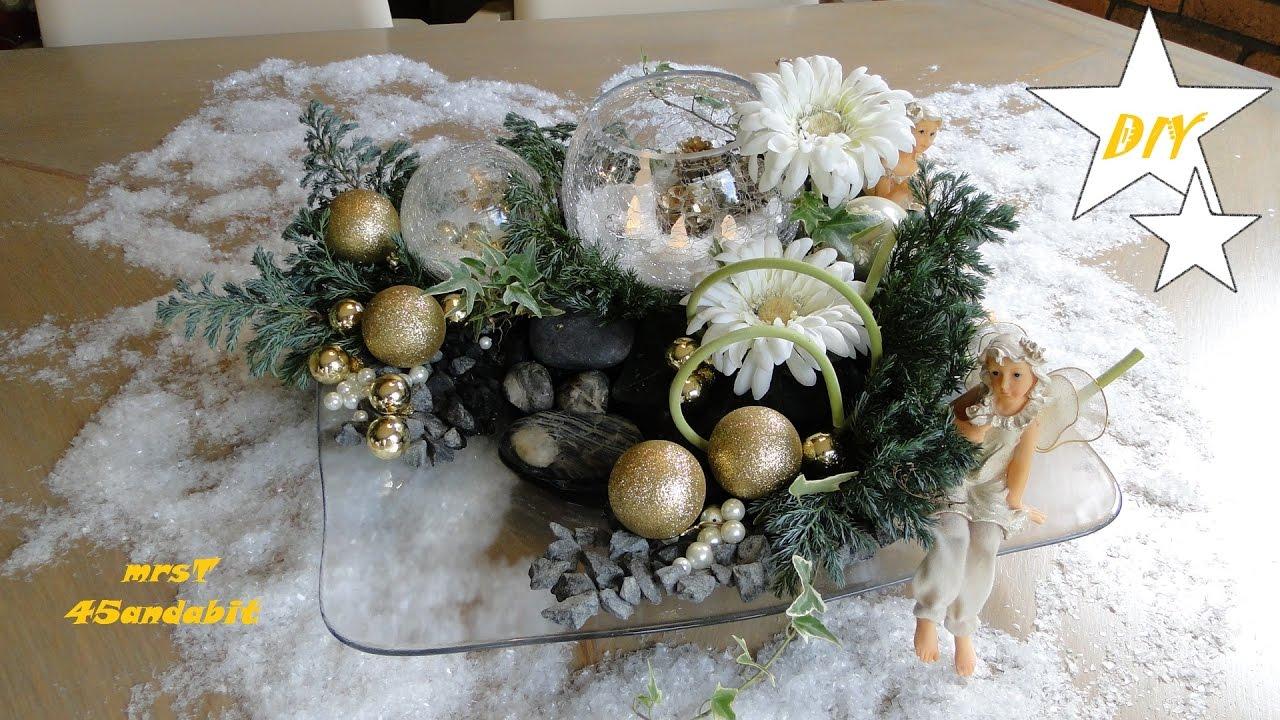 Diy Kerststukjes Maken Weihnachtsdeko Basteln Gerbera S