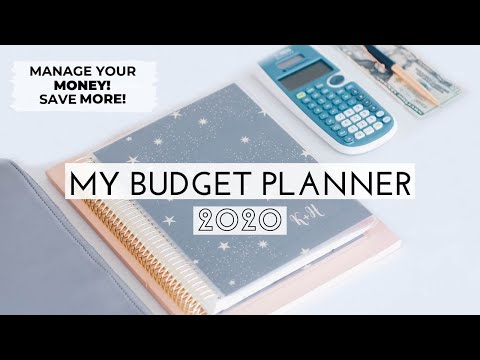 MY BUDGET PLANNER! 2020 | HOW TO START BUDGETING | SAVE MORE MONEY! - YouTube