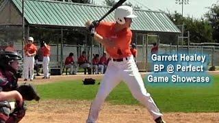 Garrett Healey Recruiting Video College Baseball Prospect 2016 BP Showcase