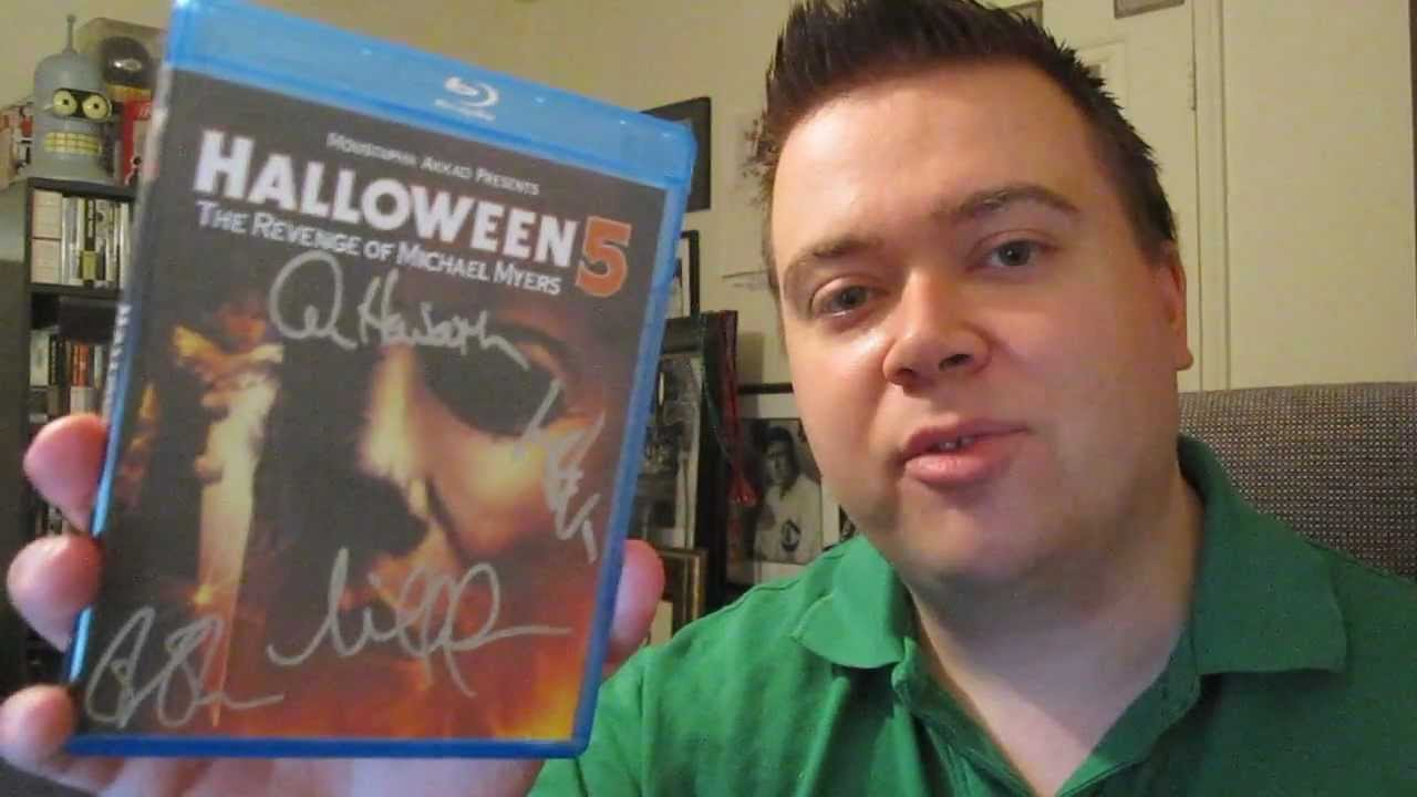 Halloween 5 Blu Ray.Signed Halloween 5 The Revenge Of Michael Myers Blu Ray Unboxing Review