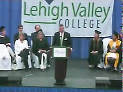 Bill Rambo gives commencement speech to Lehigh Valley College graduates