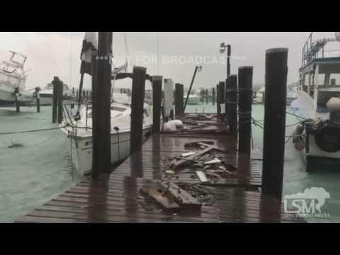 Hurricane Matthew Effects + Damage Paradise Island, Bahamas 10-6-16
