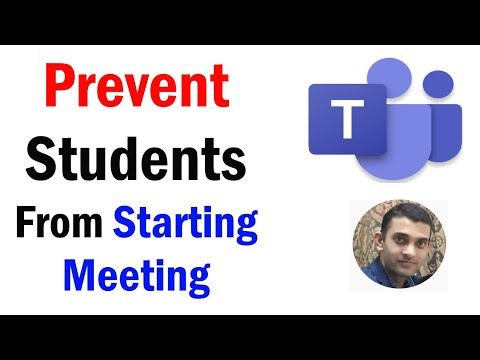 How To Prevent Students From Starting Meeting | How To Stop Students From Starting Meeting in Teams